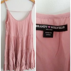 Brandy Melville Pink Strappy Dress